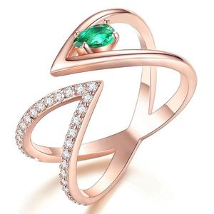 Rose Gold Adjustable Ring